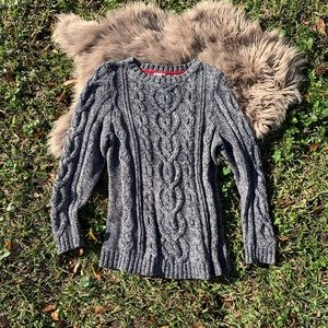 J. Jill cable knit grey sweater. Size large